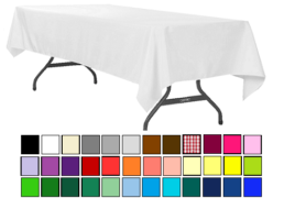 120x60 tablecloth linen poly