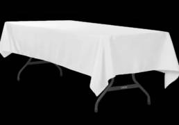 (Linens) Tablecloths, 120×54″ Banquet, Cotton (Multiple Colors)
