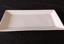 White china rec plate