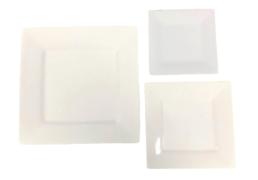 square white china plates