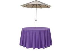 Purple umbrella linens