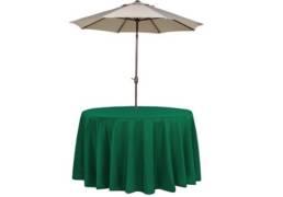 dark green umbrella table cloths