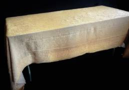 120x60 gold champagne crush linen